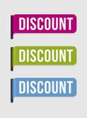 Modern label – discount — Stock Vector