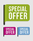 Modern label – special offer — Stock Vector