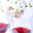 Stock Photo: Wine glasses with red wine