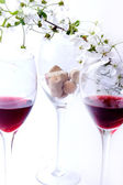 Three glasses of red wine — Stock Photo