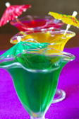 Glasses with colored jelly — Stock Photo