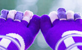 Purple socks with separate toes — Stock Photo