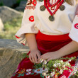 Stock Photo: Girl in Ukraininational costume