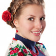 Young woman in the ukrainian style — Stock Photo