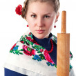 Stock Photo: Wicked womin ukrainistyle