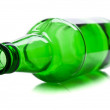 Green and glass bottle — Stock Photo