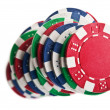 Poker chips — Stockfoto