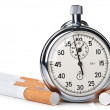 Royalty-Free Stock Photo: Smoking kills over time