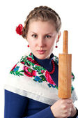 Wicked woman in the ukrainian style — Stock Photo