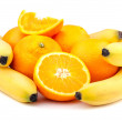 Fresh orange and banana — Stock Photo