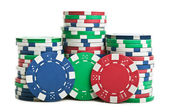 Fichas de póker aislados — Foto de Stock