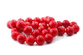 Red beads isolated — Stock Photo