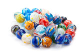 Color beads isolated — Stock Photo