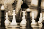 下棋的老人 — 图库照片