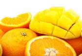 Fresh orange and mango — Stock Photo