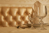 Tableware at restaurant — Stock Photo