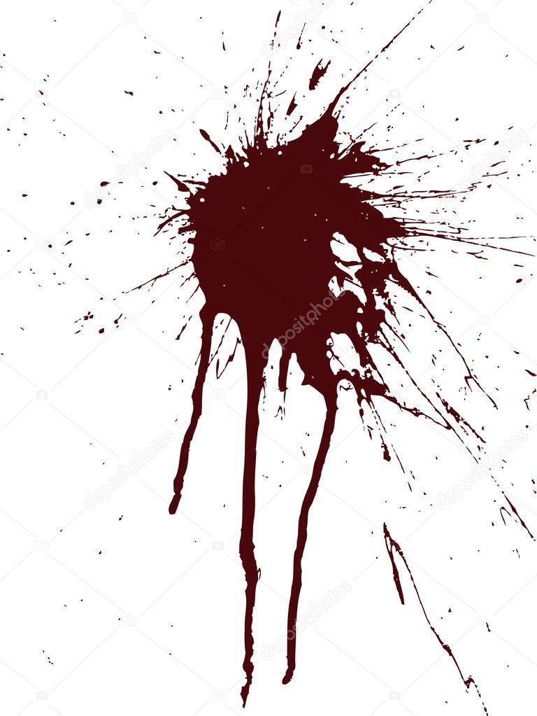 vector de la imagen de una mancha de pintura en la pared vertical las gotas y aerosoles. Black Bedroom Furniture Sets. Home Design Ideas