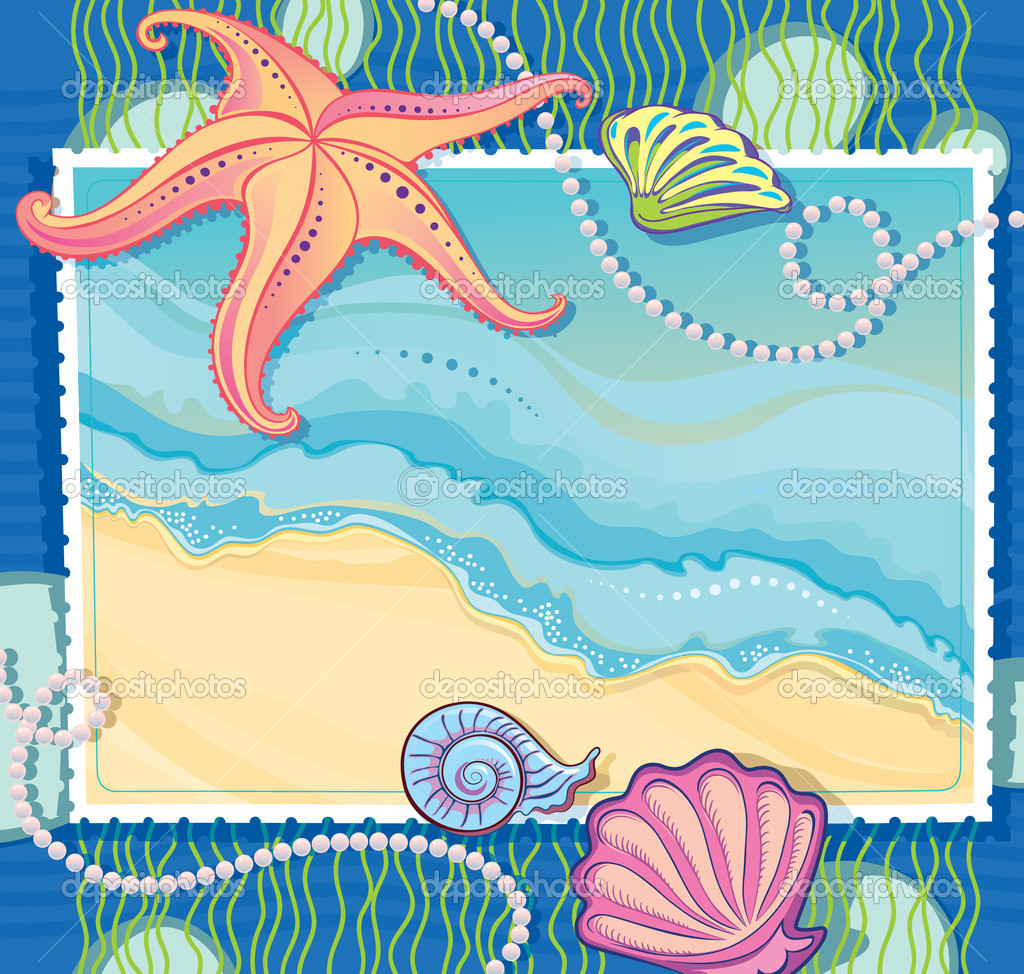 Marina Blue Plank Frame with Starfish - The Project Cottage