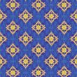 The pattern of golden diamonds on a dark blue background - Stok Vektör