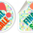 Final sale - best discount sale stickers set — Stock Vector