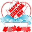 Happy Canada Day vector card — Stock Vector
