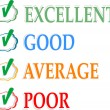 Concept of good credit score for business — Image vectorielle