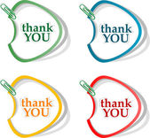 Thank you - grateful bubbles. Vector — Stock Vector