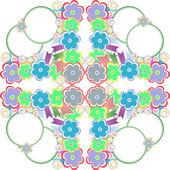 Seamless wallpaper flower pattern — Stock Vector