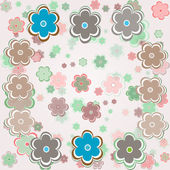 Vector vintage background with flowers — Stock vektor