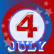 Vector de stock : 4th of July independence day background