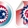 Made in USA stickers set isolated over a white background - Stock Vector