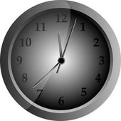 Relógio vector cinza — Vetorial Stock
