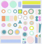 Set of cute scrapbook elements. vector — Stock Vector