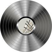 Vinyl-schallplatte — Stockvektor