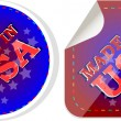 Royalty-Free Stock Vector Image: Made in the USA icon label vector set