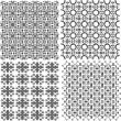 Geometric seamless patterns set, vector backgrounds collection — Stock Vector