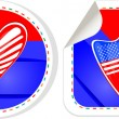 USA national and patriotic concepts for badge, sticker — Stock Vector