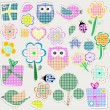 Royalty-Free Stock Vector Image: Scrapbook nature set. seamless vector background