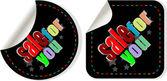 Färg försäljning för dig klistermärken som — Stockvektor