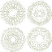 Vektor-Satz von Guilloche Rosette für Dekoration und Verzierung — Stockvektor