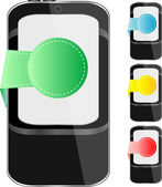 Conjunto moderno teléfono móvil inteligente — Vector de stock