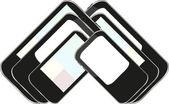 Vector smart phone set — Stockvector