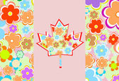 Symbol of Canada from maple leaves on a background — Stock Vector