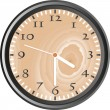 Wooden wall clock - vector — Stock Photo
