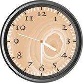 Wooden wall clock - vector — Stock Photo