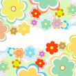 Stock Vector: Vector beautiful flower background art
