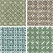 Big vintage plaid patterns set vector background — Stock Vector