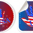 Set of US presidential election stickers in 2012 — Stock Vector