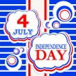 4th of july independence day background — Stock Vector
