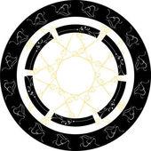 Retro gold vintage shield art decoration — Stock Vector